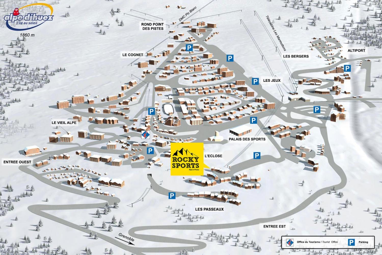Alpe d huez carte archives voyages cartes - L alpe d huez office tourisme ...